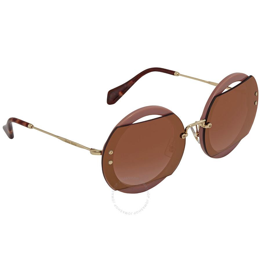 Miu Miu Round Sunglasses MU 06SS VIZAD4