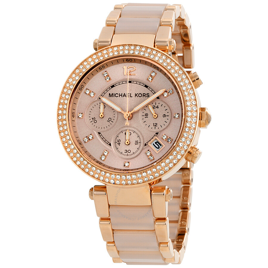 parker acetate kors michael is blush tone r watches gold ca rose watch
