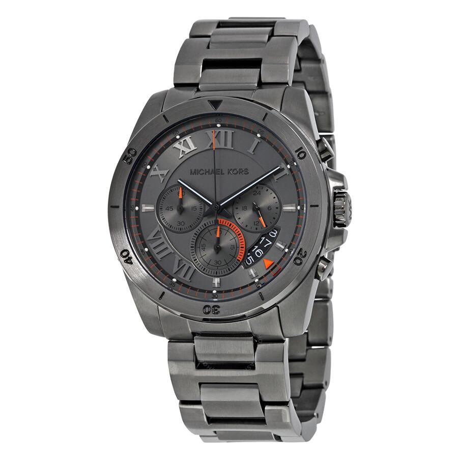 michael kors male open box michael kors brecken chronograph grey dial mens watch mk8465