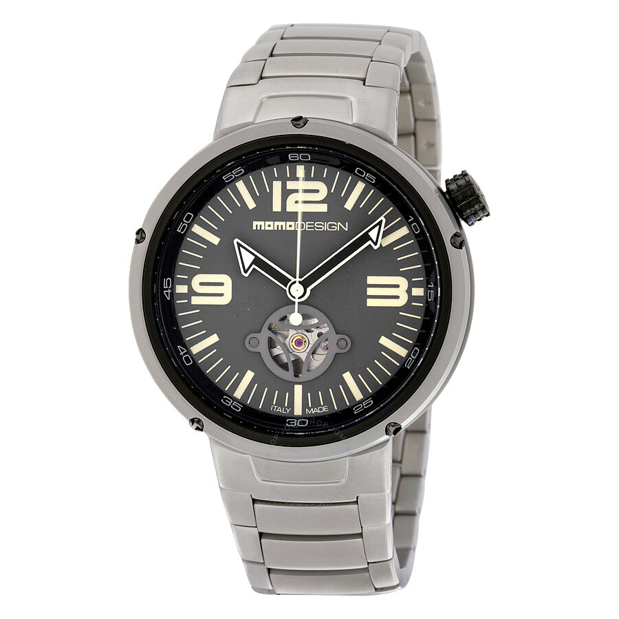 Momo Design Evo Automatic White Dial Stainless Steel Mens Watch MD1011BS-30
