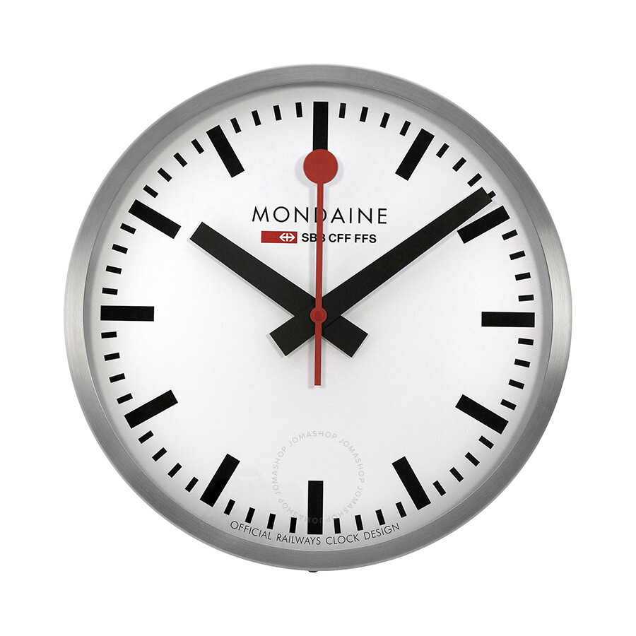 Mondaine 40cm White Dial Stainless Steel Wall Clock A995cl16sbb