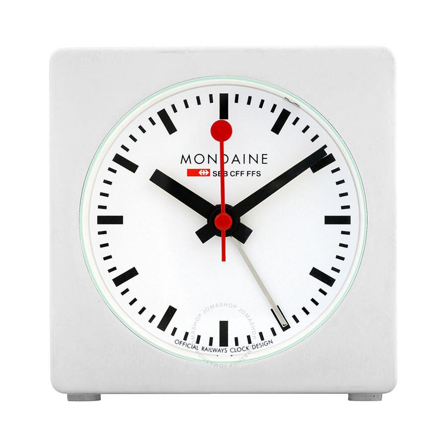 Mondaine White Dial Unisex Desk Clock A996. ALIG.10SBB