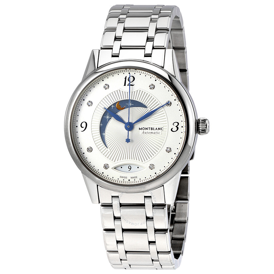 Montblanc Boheme Day and Night Silvery White Dial Ladies Watch 112501