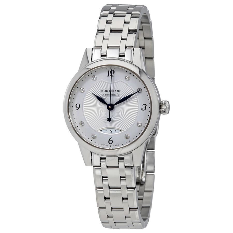 Montblanc Boheme Silver Dial Automatic Ladies Watch 116498
