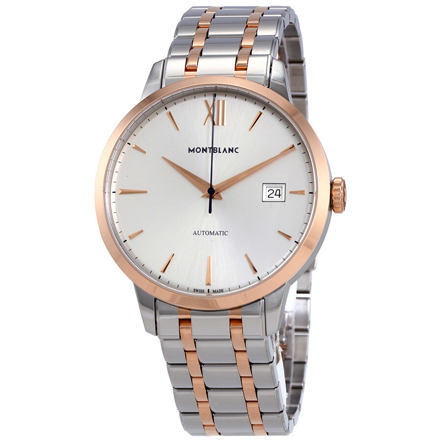 MontBlanc Heritage Spirit Automatic Silvery White  Dial Watch 111625