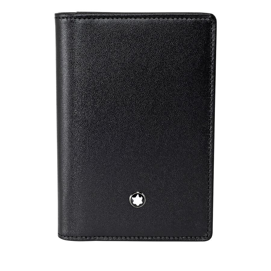 Montblanc Meisterstuck Leather Business Card Holder - Black ...