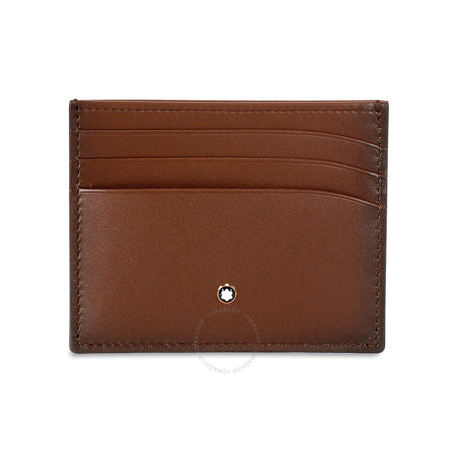 montblanc meisterstuck sfumato brown leather credit card holder 113173 - Mont Blanc Card Holder