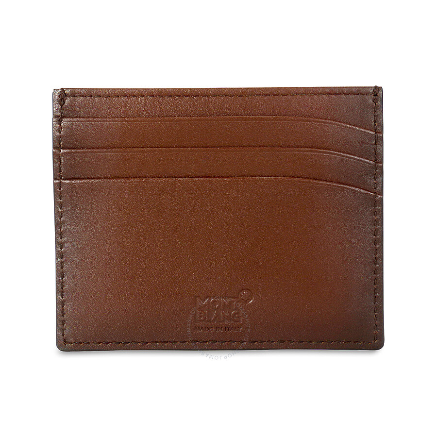 montblanc meisterstuck sfumato brown leather credit card holder 113173 - Leather Credit Card Holder