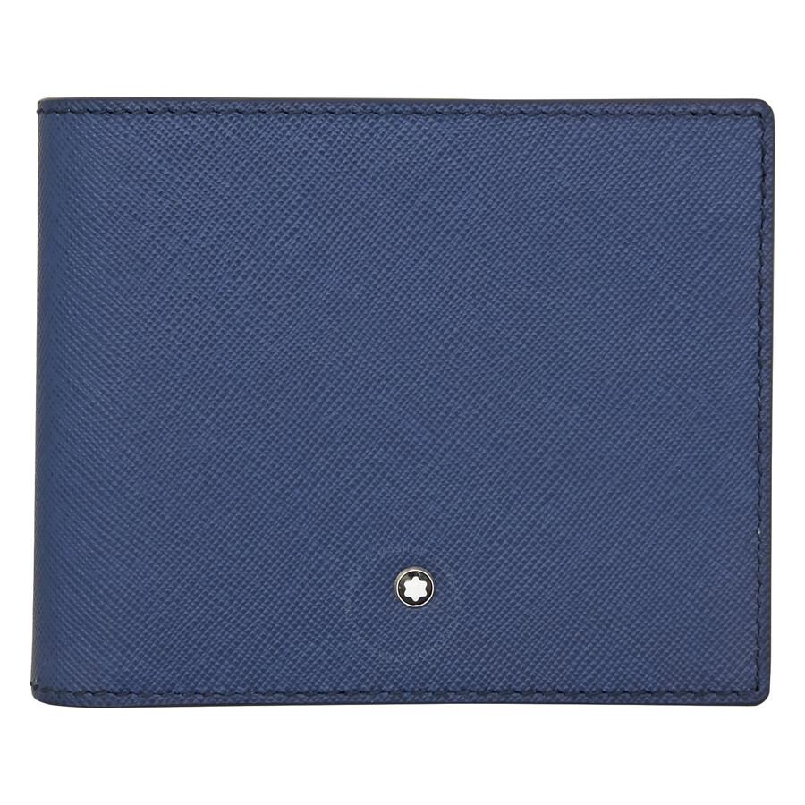 dfa6c9afd344e MontBlanc Sartorial 8CC Leather Wallet- Indigo