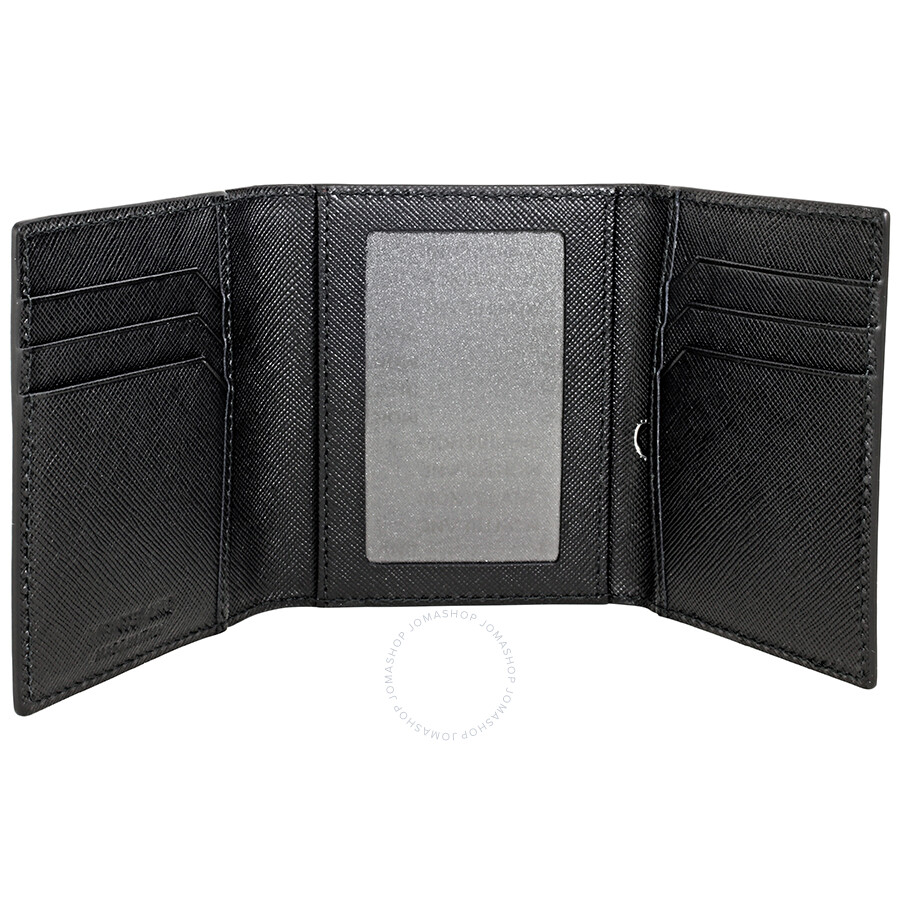 Montblanc sartorial trifold business card holder black montblanc montblanc sartorial trifold business card holder black colourmoves