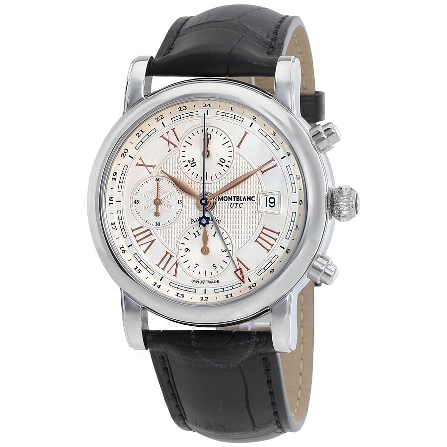 Montblanc star roman utc chronograph automatic men 39 s watch 113880 star montblanc watches for Montblanc watches