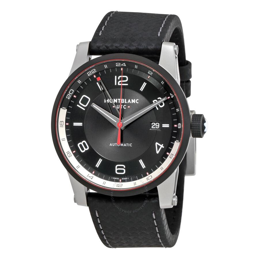 Montblanc timewalker utc automatic men 39 s watch 115080 timewalker montblanc watches jomashop for Montblanc watches