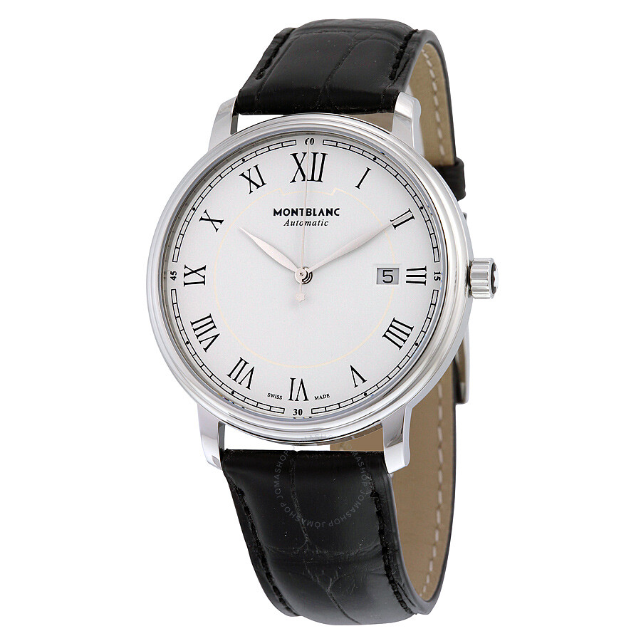 Montblanc tradition automatic white dial men 39 s watch 112609 tradition montblanc watches for Montblanc watches