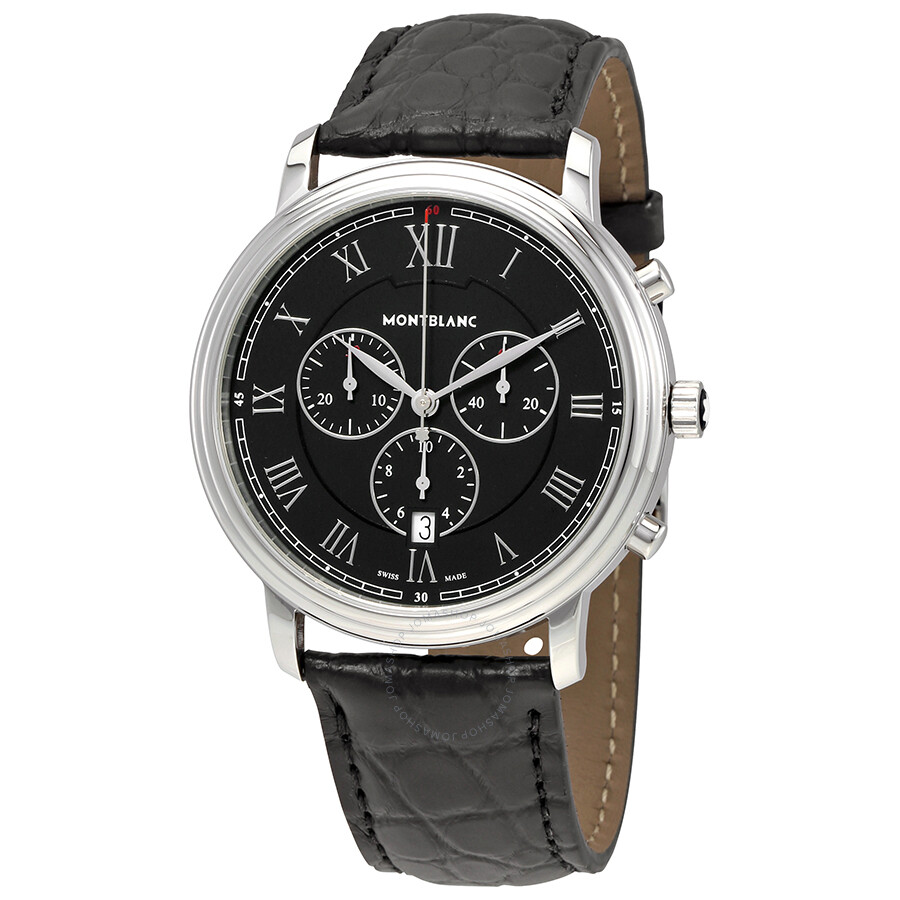blanc brown men detail leather online black watches buy kaunsa com mont mount