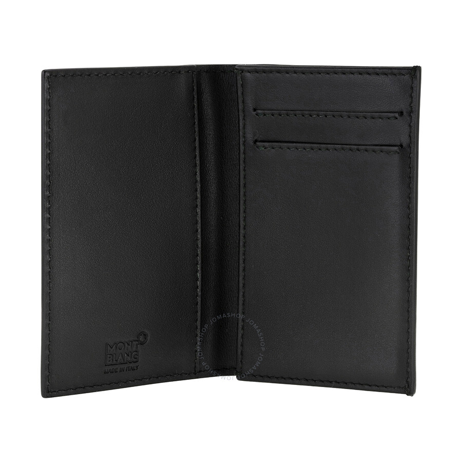 MontBlanc Westside Extreme Black Leather Business Card Holder 111141 ...