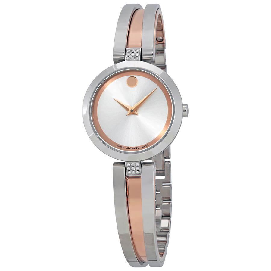 Movado Aleena Silver Dial Ladies Watch 0607152