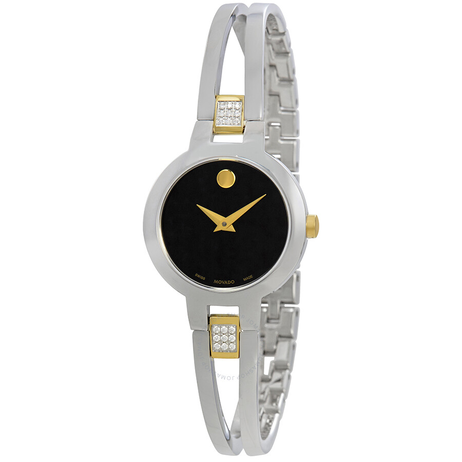 Movado Amorosa Black Dial Ladies Watch 0607185