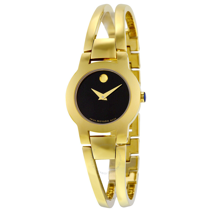 Movado Amorosa Black Museum Dial Ladies Watch 0606946