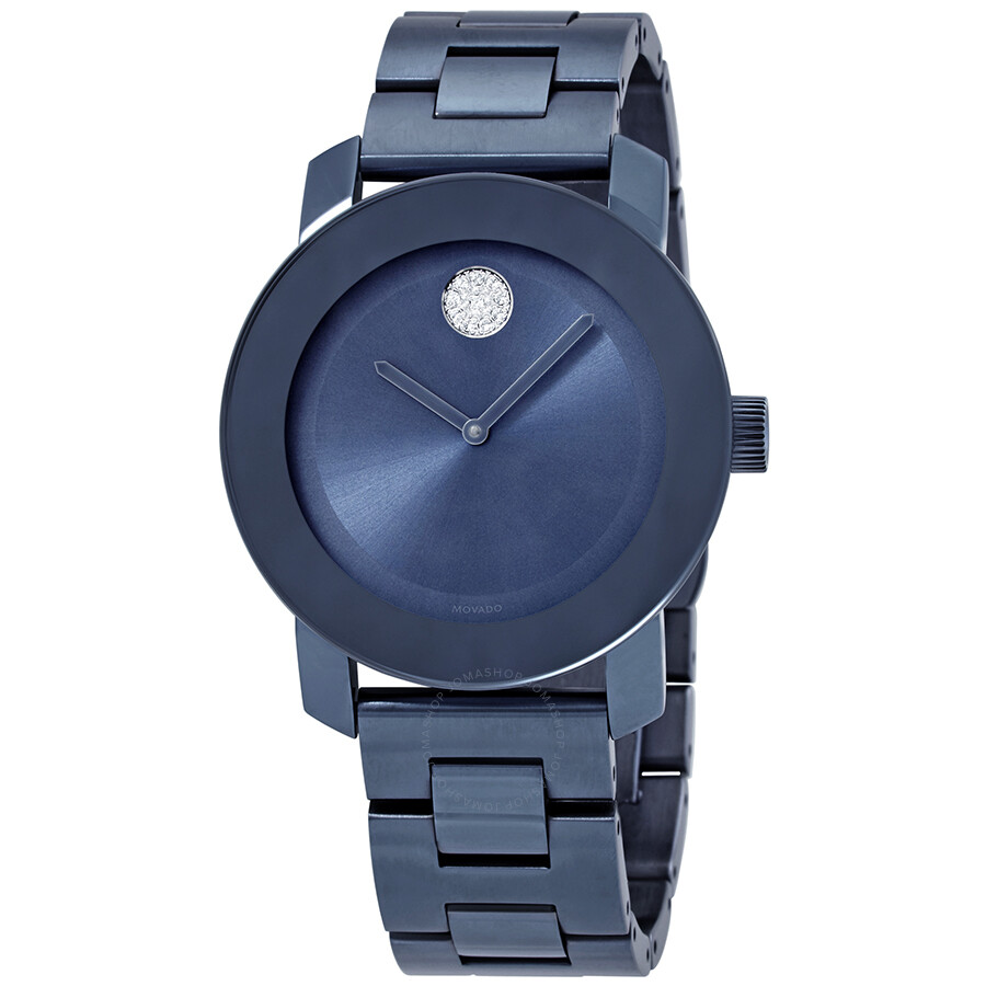 Bold Light Blue Dial Ladies Watch