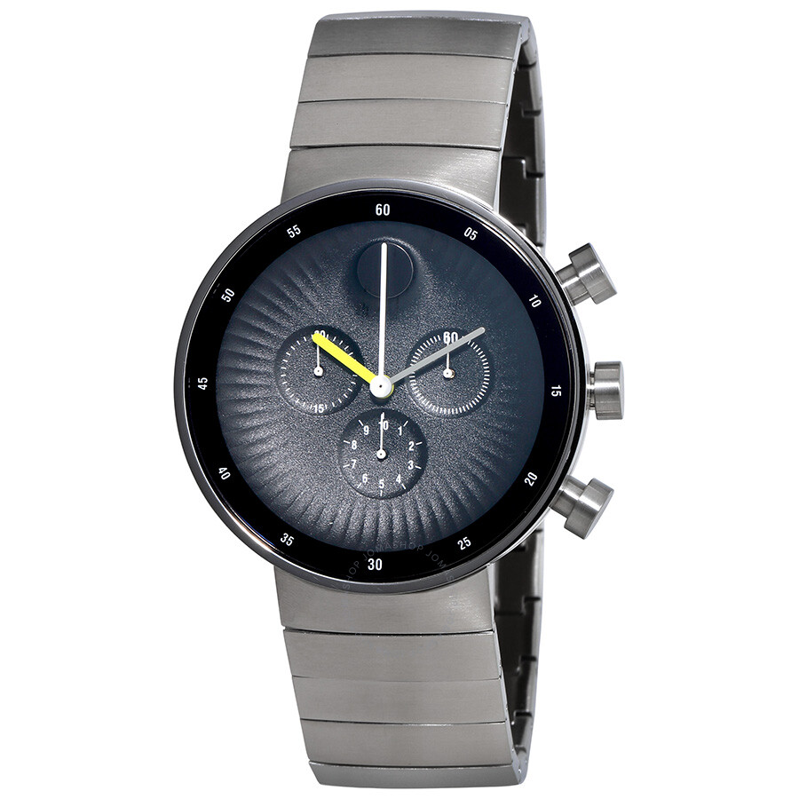 Movado Edge Chronograph Black Dial Stainless Steel Mens Watch 3680009