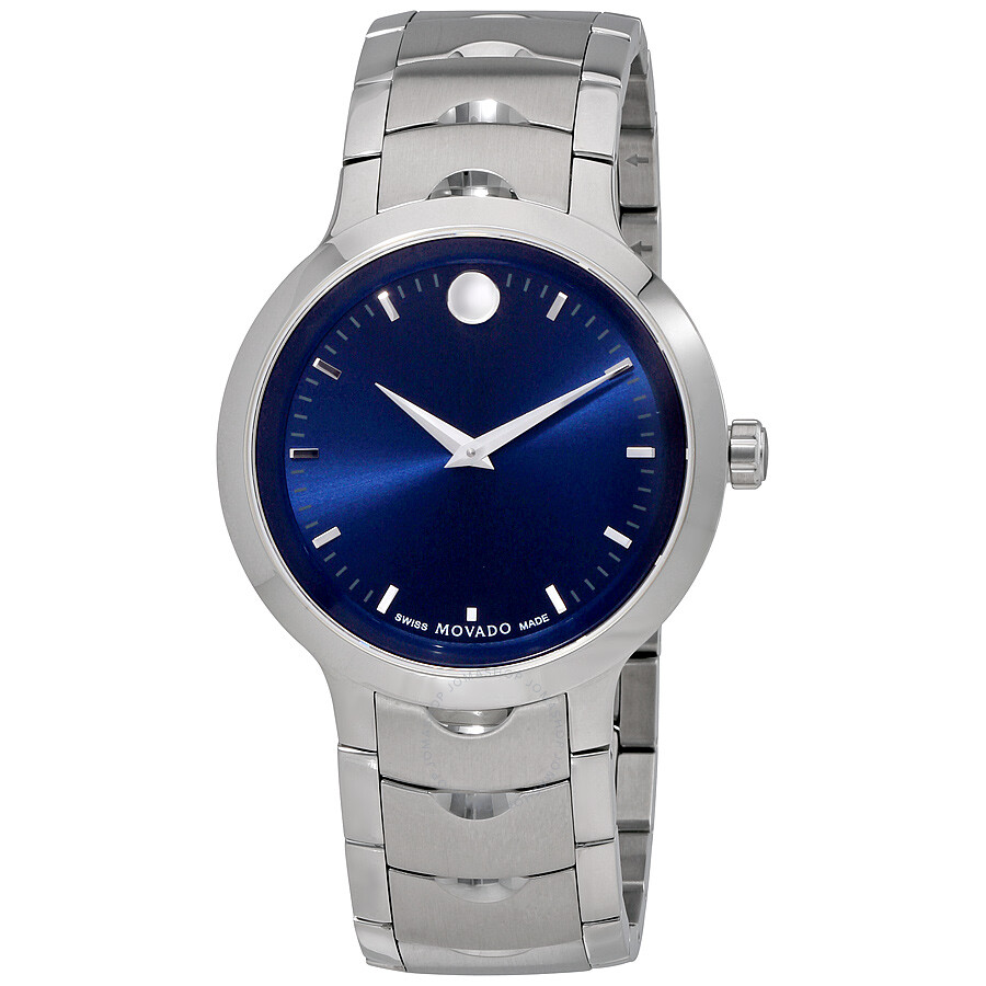 sku of black movado luno dial watch esperanza s watches steel stainless men with blue item image