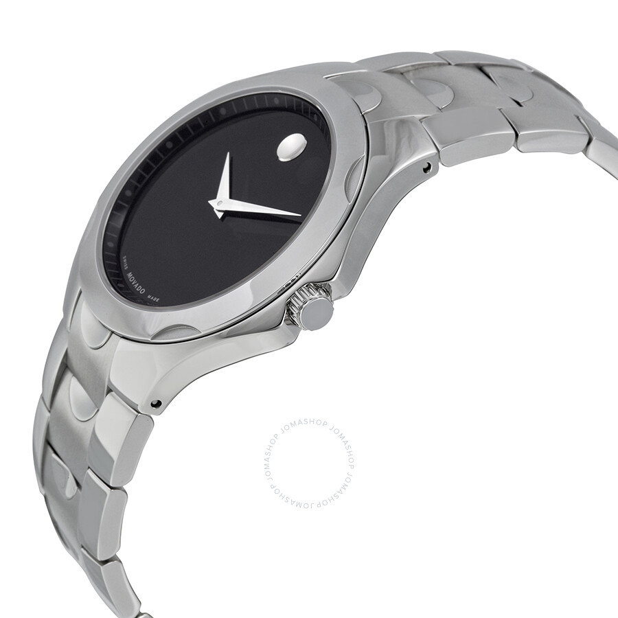 movado stainless handsome steel luno watches products store s men watch