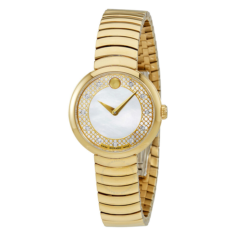 Movado Myla Mother of Pearl Dial Ladies Watch 0607045