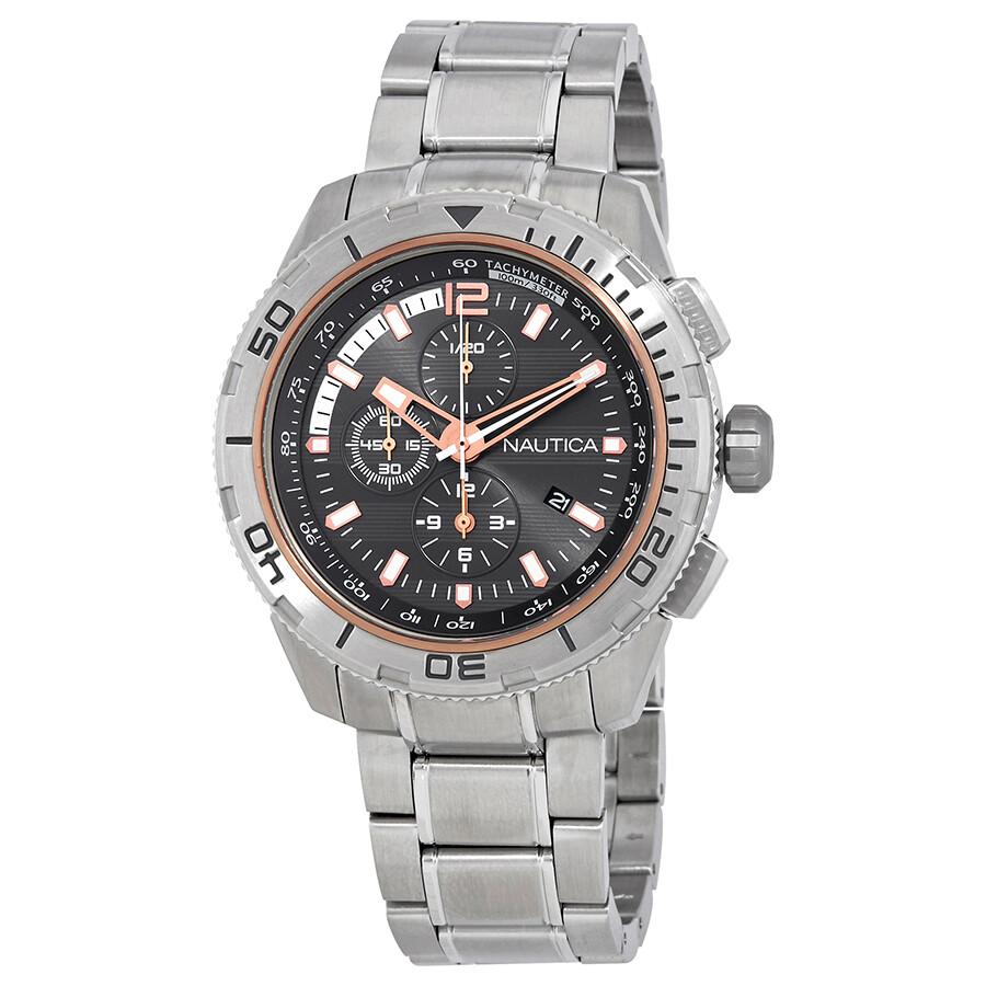 Nautica Chronograph Grey Dial Mens Watch A24550GS