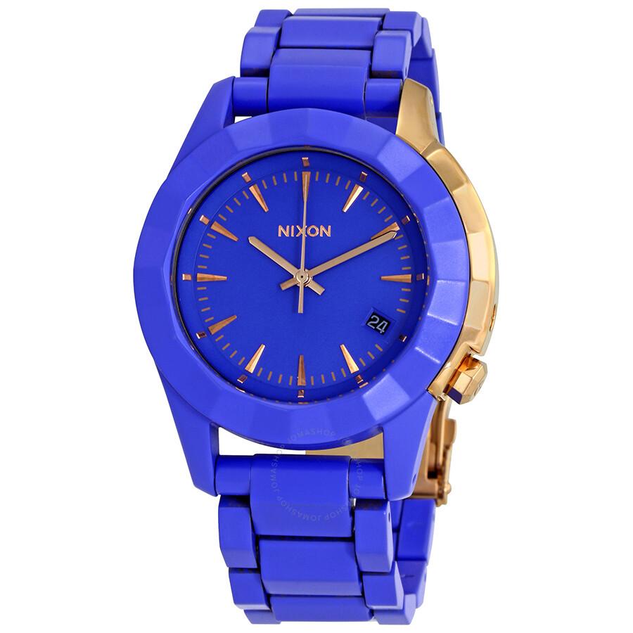 Nixon Monarch Blue Dial Ladies Watch A288-1675