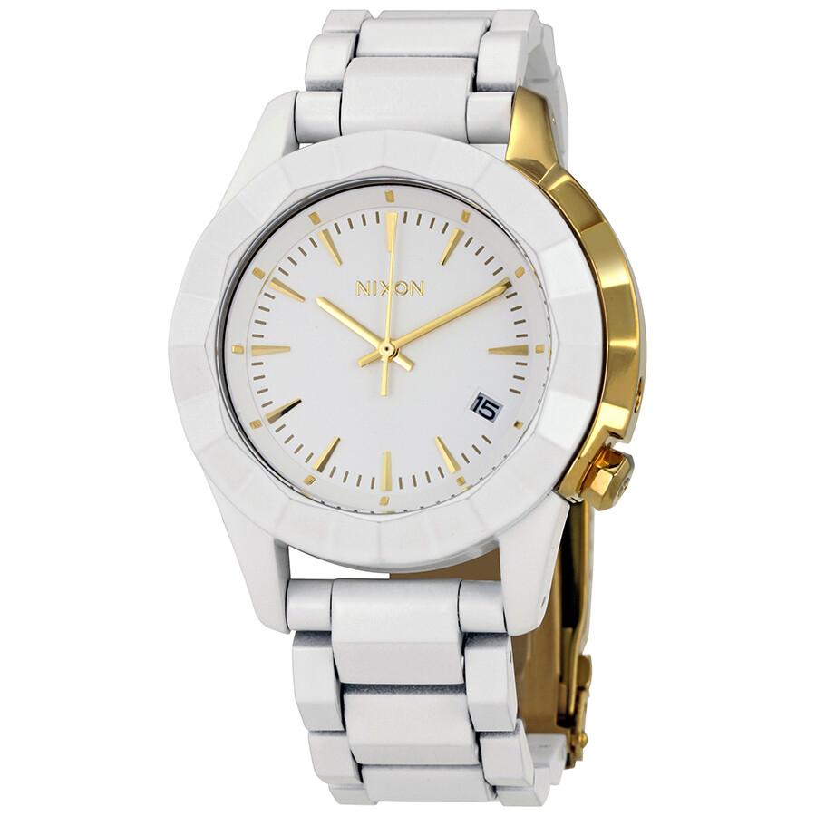 Nixon Monarch White Dial Ladies Quartz Watch A2881035