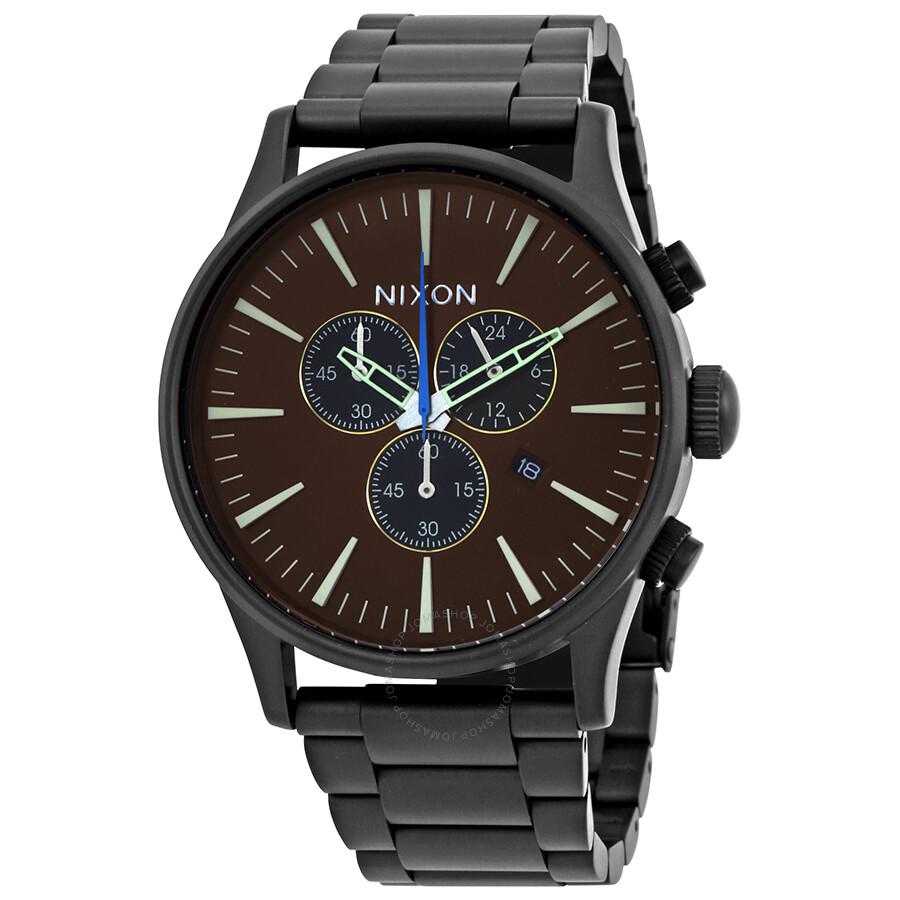 Nixon Sentry Chronograph Brown Dial Mens Watch A386-2209-00