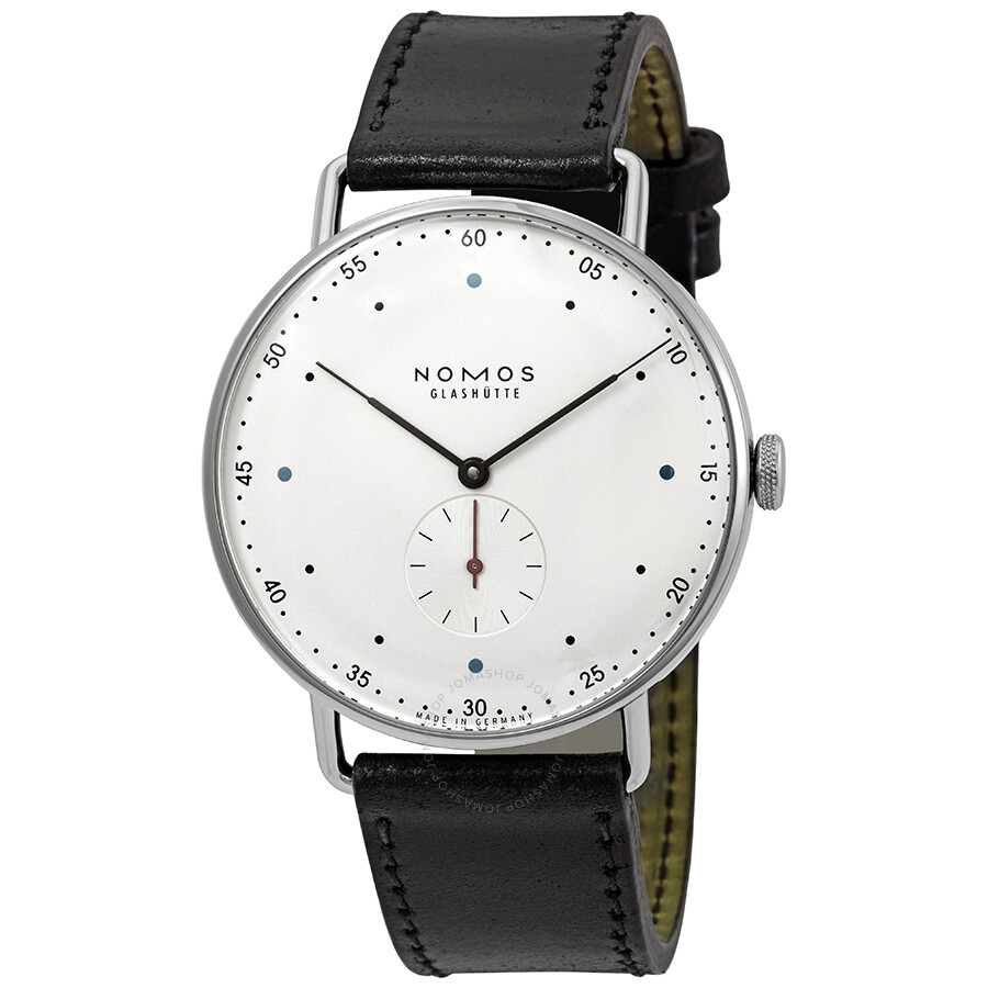 Nomos Metro 38 White Silver Dial Mens Watch 1109
