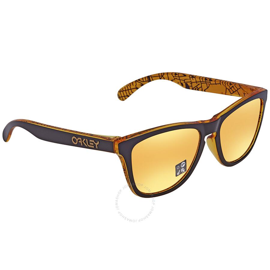 7180392345e ... france oakley frogskins 24k iridium rectangular asian fit sunglasses  oo9245 924566 54 1f431 a788d