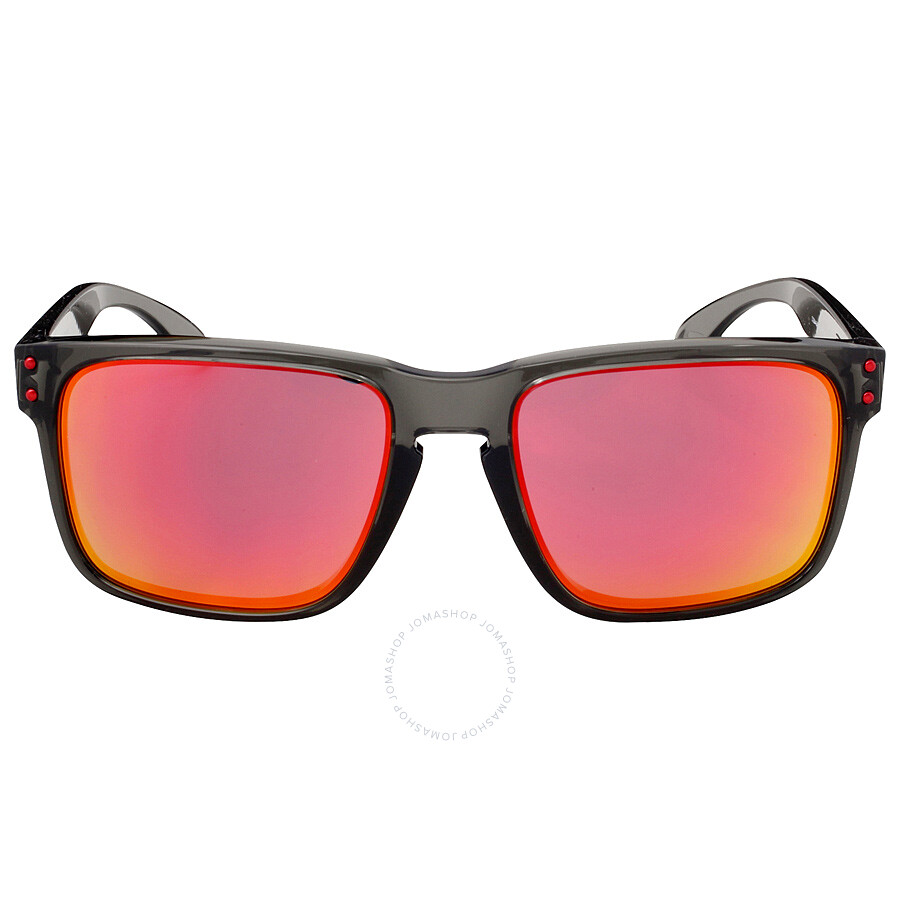Oakley Holbrook Asia Fit Sunglasses - Grey Smoke/Ruby Iridium ...