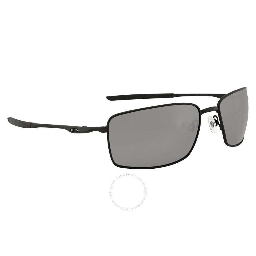1da77a52fe ... usa oakley square wire black iridium polarized mens sunglasses oo4075  407505 60 254dc f6695