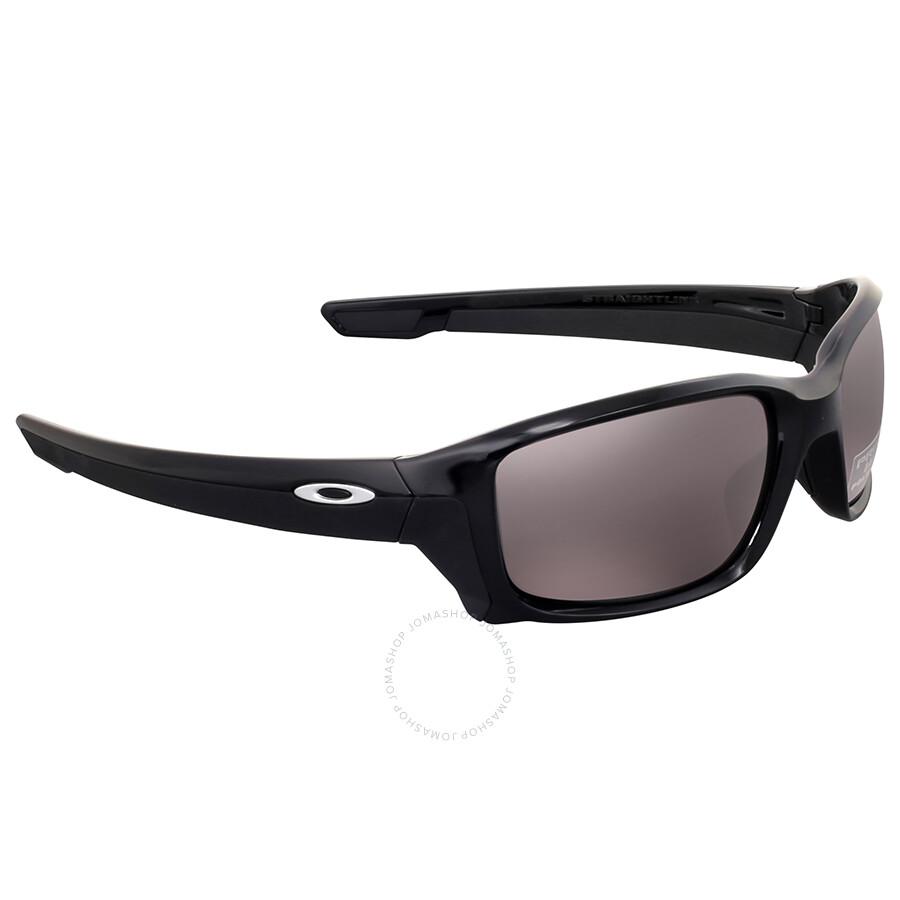 Oakley Herren Straightlink 933107 Sonnenbrille, Schwarz (Polished Black/Prizmdailypolarized), 58
