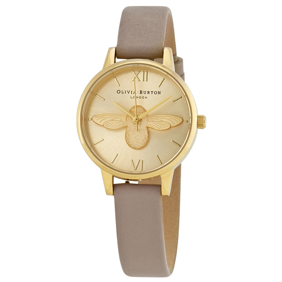 Olivia Burton 3D Bee Champagne Dial Ladies Watch OB16AM150