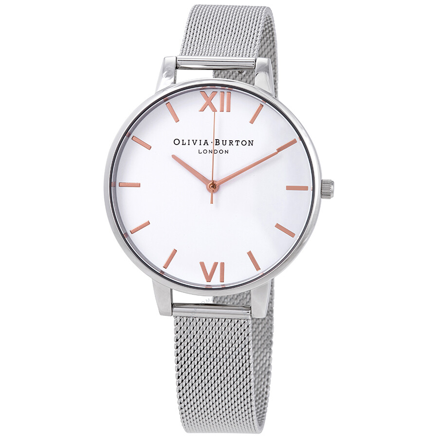 Olivia Burton Big Dial White Dial Ladies Watch OB16BD97