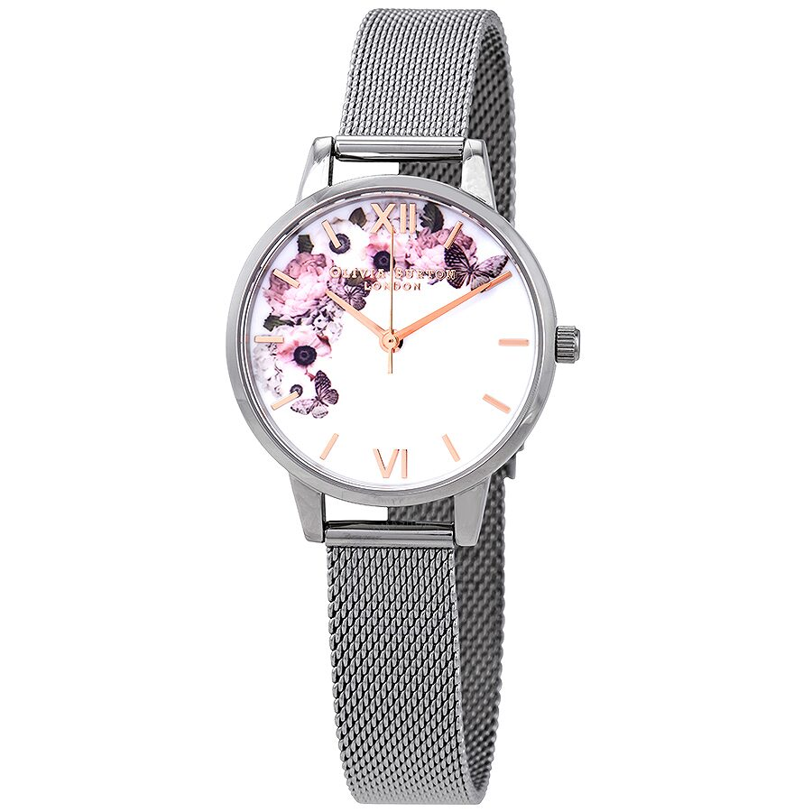 Olivia Burton Signature Florals White Dial Ladies Watch OB16WG30