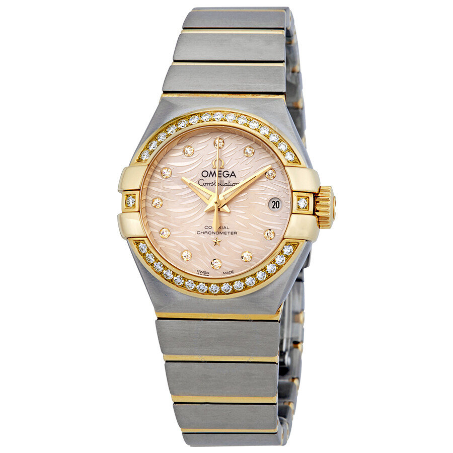 Omega Constellation Automatic Coral Dial Ladies Watch 123.25.27.20.57.005