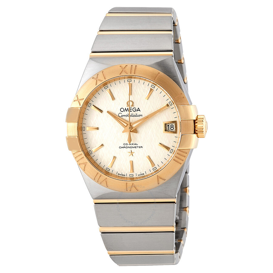 Omega Constellation Automatic White Opaline Mens Dial Watch 123.20.38.21.02...