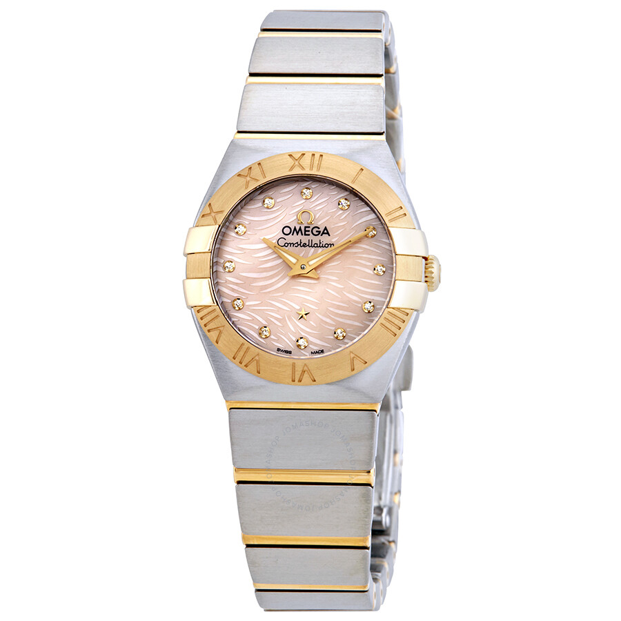 Omega Constellation Coral Mother of Pearl Dial Ladies Watch 123.20.24.60.57...