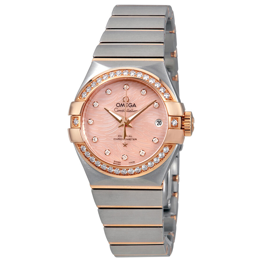 Omega Constellation Coral Mother of Pearl Dial Ladies Watch 123.25.27.20.57.004