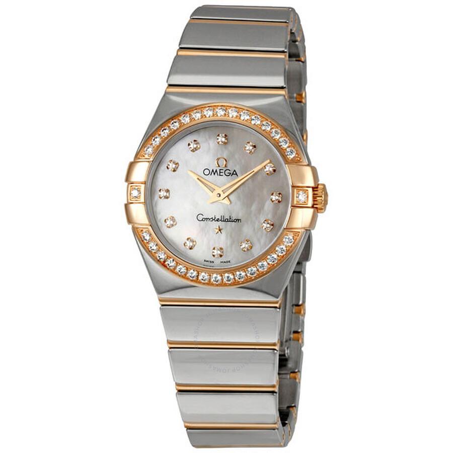 Omega constellation diamond dial ladies watch constellation omega for Omega watch constellation