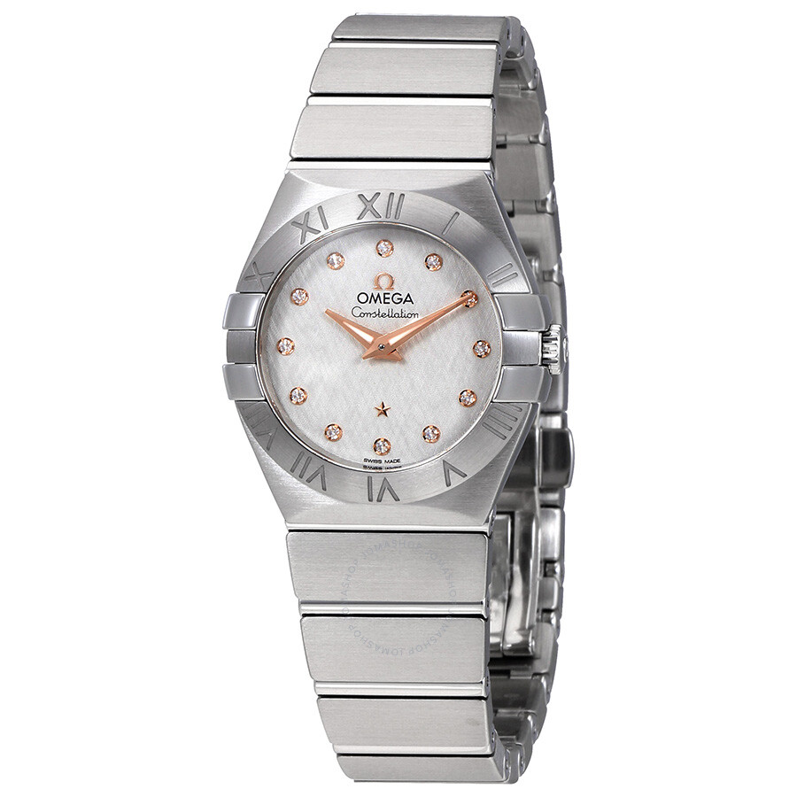 Omega Constellation Silver Diamond Dial Ladies Watch 123.10.27.60.52.001
