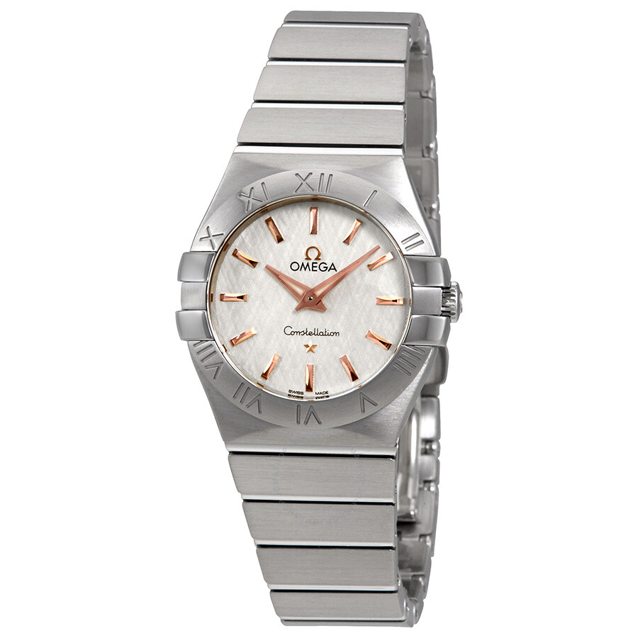 Omega Constellation White Opaline-Silvery Dial Ladies Watch 123.10.27.60.02...