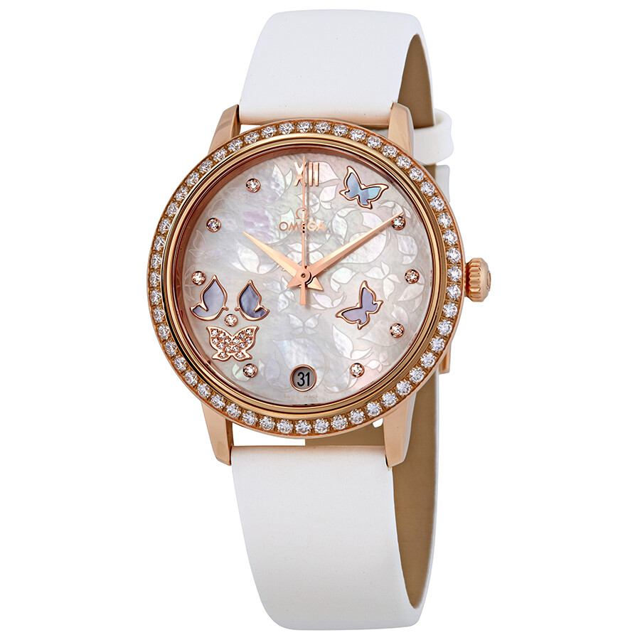 Omega De Ville Prestige Mother Of Pearl Dial Ladies Watch 424.57.33.20.55.002