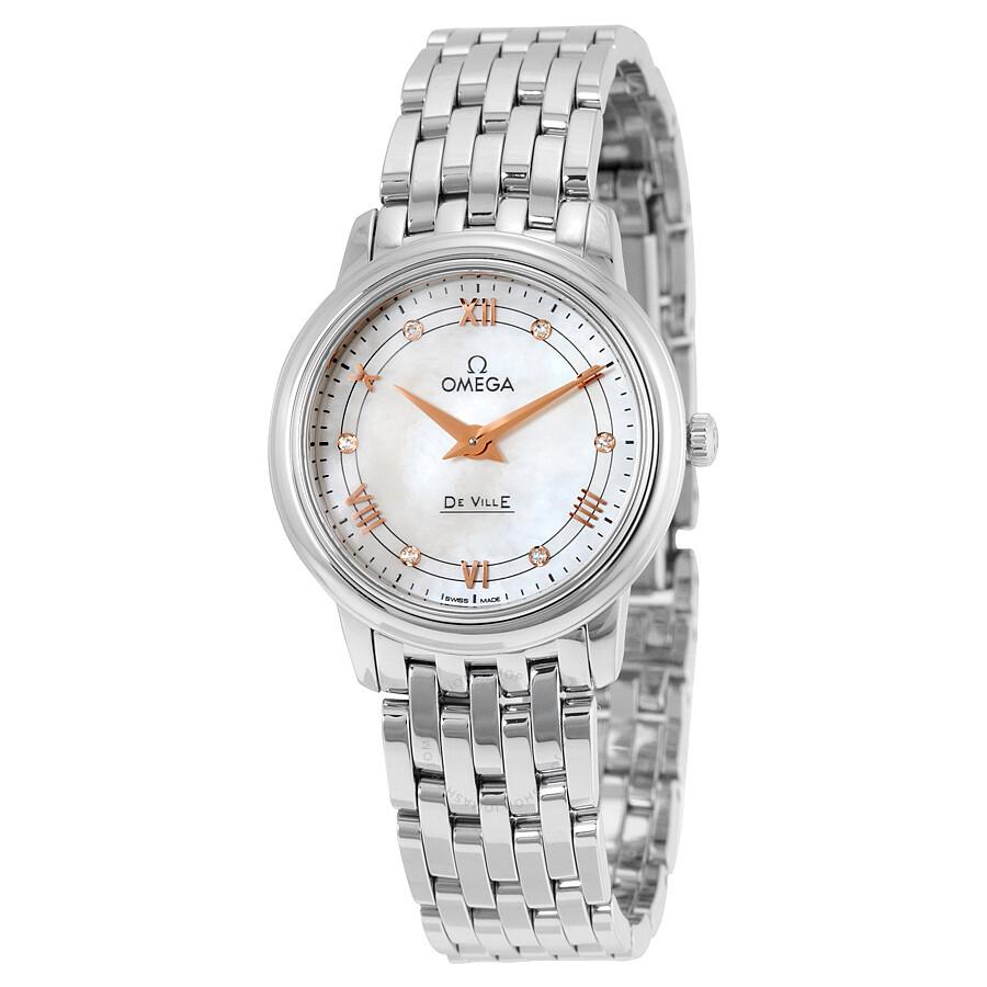 Omega DeVille matka Perla Dial Dámske hodinky 42410276055001. Rose ... 3850c6c6d1