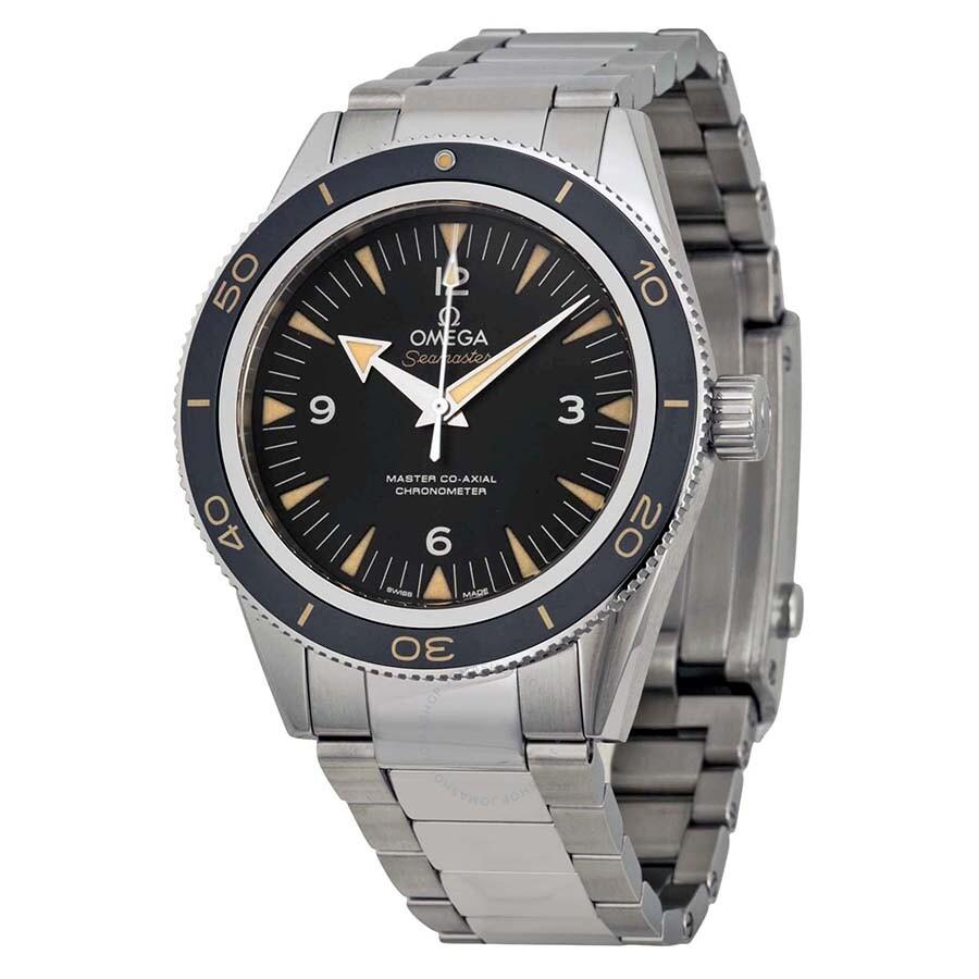 Omega seamaster 300 automatic black dial men 39 s watch 23330412101001 seamaster omega for Omega watch seamaster