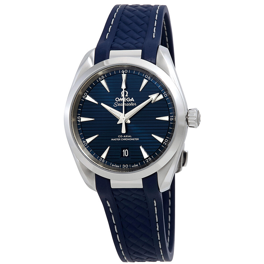 Omega seamaster aqua terra automatic blue dial men 39 s watch seamaster aqua for Aqua marine watches